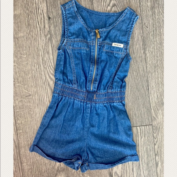 Calvin Klein Jeans toddler girl shorts romper 4T